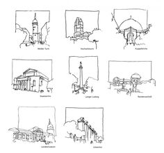 Sightseeings Darmstadt, Architectural Drawing
