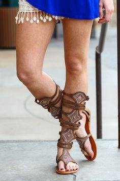 Triumph In My Gladiator Sandals (Brown)