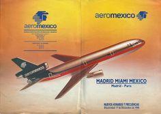 Aeromexico Timetable effective December 1990
