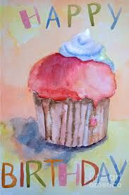 Image result for watercolor birthday cake