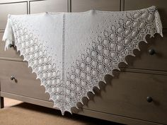 Wedding Shawl (finished) by Eskimimi, via Flickr  Dew Drops Shawl by Bex Hopkins, free Ravelry pattern.