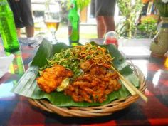 Balinese food Prepared on rice leaves Present off the local..yumm