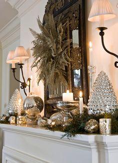 Christmas Mantel Ideas Christmas Mantel Ideas Christmas #Mantel Ideas