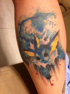 vaporeon watercolor tattoo - gorgeous! Would love a milotic in this style