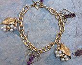 Treasury Time!  Shiny Jewelery ~ Shiny Happy People, CrazyAdsTeam  Vintage Heart Pearls Romantic Bracelet, Amethsyt-Purple Rhinestone, Artisan Recycled