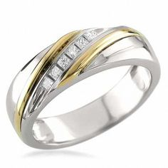 Men/'s Diamond wedding band Ring 8mm Titanium Eternity 3 DIA 0.09 Ct Gold Plated