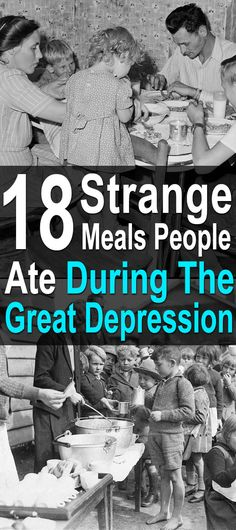 The great depression brought out both the resiliency and ingenuity of literally millions of people. With few options, people had to make do with what was on hand. Clothes were sewn with spare flour sacks and shoes repaired with cardboard. Food, however, is where things got really interesting.