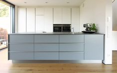 Kitchens individually: Not found, Modern Grey Kitchen, Grey Kitchens, Cool Kitchens, Beer Kitchen, Küchen Design, Kitchen Interior, Modern Decor, Kitchen Remodel, Kitchen Cabinets