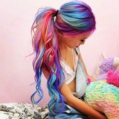 Candy rainbow hair