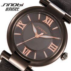 SINOBI Fashion Luminous Watch Women Watches Leather Strap Luxury Bracelet Quartz Watch Lady Hour montre femme relogio feminino