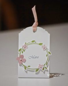 Your Perfect Day - SU - Tag - Wedding, name tag
