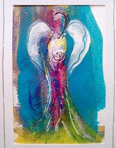 Originaldruck - Engel Kunstdruck - ein Designerstück von Shirdi bei DaWanda
