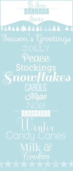 FREE holiday fonts!