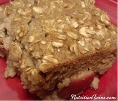 Baked Cinnamon Apple Oatmeal   Sweet, Satisfying & Delicious   Only 198 Calories   Made with @egglandsbest   For MORE RECIPES please SIGN UP for our FREE NEWSLETTER www.NutritionTwin... . client