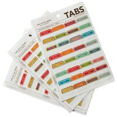 Top Pinned - Perk up your projects and keep things in order at the same time with brightly colored Adhesive Organization Tabs!