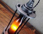 Vintage Beer Bottle Lamp - Beer Promo - Industrial Lighting