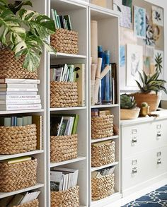 Creative Decorating Ideas Using Wicker Baskets #homedecor #decorating #basket #wicker