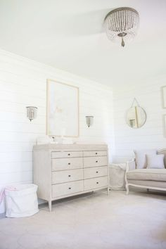 a classic, polished pink nursery for a baby girl