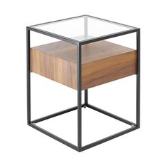 Click to zoom - Drift side table walnut