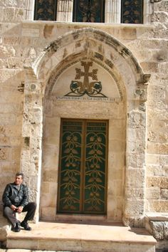 Door in the Courtyard of the Church of the Holy Sepulchre - Jerusalem