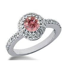 1.41 Karat Pink Diamant Ring aus 585er Weißgold. Ein Diamantring aus der Kollektion Pink von www.pearlgem.de