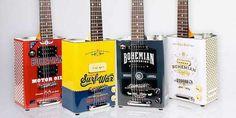 Bohemian Guitars: chitarre elettriche dal riciclo delle latte dell'olio greenme.it