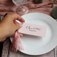 Are you interested in our Blush wedding placecards? With our modern calligraphy pink name tags you need look no further.