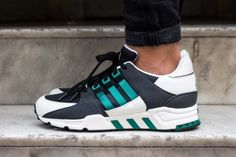 ADIDAS EQUIPMENT RUNNING SUPPORT OG BLACK GREEN WHITE