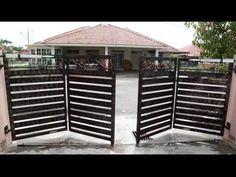 folding gate opener: Run Front Gate Design, House Gate Design, Door Gate Design, Gate House, Fence Design, New Gate Design, Front Gates, Entrance Gates, Latest Gate Design