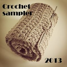 Crochet Sampler - free pattern available in English & Dutch http://www.ravelry.com/patterns/library/crochet-sampler-01