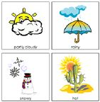Free Printable Printable Montessori Learning Materials ....  Weather cards, charts for circle time,   Print for free at www.montessoriprintshop.com