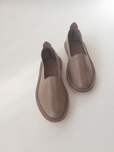 Vayarta Leather Slip-ons - Terra
