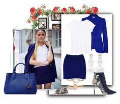 """""""blue and white"""" by wendy-737 ❤ liked on Polyvore featuring Alexander McQueen, St. John, Simone Rocha, Diane Von Furstenberg and Accessorize"""