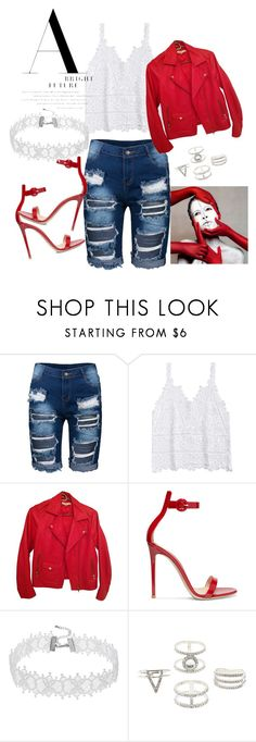 """""""red riding hood"""" by rachellove22 ❤ liked on Polyvore featuring Sandro, Gianvito Rossi and Charlotte Russe"""