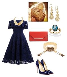 """""""Navy Chic"""" by jalepe on Polyvore featuring mode, Marco Bicego, Lancel, Chloé, Palm Beach Jewelry et Kenneth Jay Lane"""