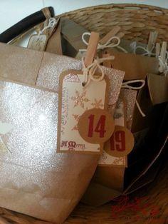 Manu´s Hobbytreff: Adventskalender aus Papiertüten (Paperbags)