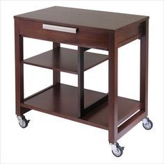 Winsome Mobile Beechwood Computer Desk in Antique Walnut: $167