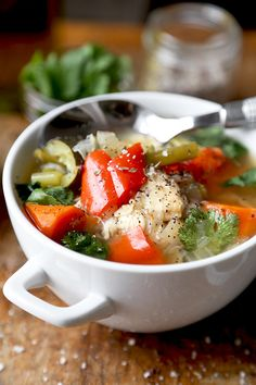 Slow Cooker Chicken Soup - Pickled Plum