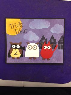 Costumed Owls Halloween card by Killerscards on Etsy