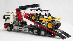World Of Tanks, Technique Lego, Benne, Lego Truck, Lego Technic, Monster Trucks, Backhoe Loader, Tray