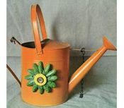 Orange Watering Can Arrow Sign