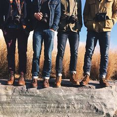 Fler MAG: Chlapi to chtěj taky! Denim Boots, Denim Outfit, Jeans And Boots, Denim Jeans, Denim Shirts, Jeans Pants, Red Wing Boots, Raw Denim, Denim Fashion