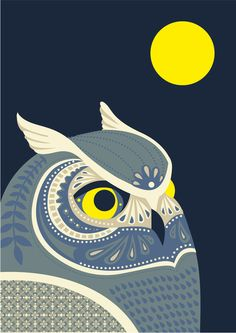 Night Owl  by Polkip   So simple but intricate, many more where this came from.