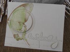 """ALEXANDRA RENKE Designerpapier """"Schmetterlinge und """"Nur für dich!"""" Die, Kreisstanze aus der Papierwerkstatt"""