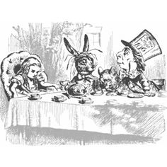 MAD TEA PARTY - public domain clip art image