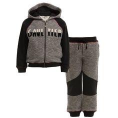 Boys Grey   Black Tracksuit with Hooded Top, Junior Gaultier, Boy Hoods,  Cowls 32ef559af0d