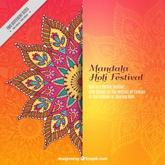 More than a million free vectors, PSD, photos and free icons. Exclusive freebies and all graphic resources that you need for your projects Durga Puja, Mandala Design, Festival Holi, Festival Background, Mandalas Drawing, Printable Crafts, Free Printable, Printables, Free Graphics