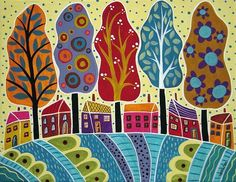 Seascape Painting Lakeside1 By Karla Gerard Karsk