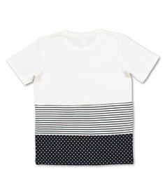 dot border short sleeve ++ cut & sew