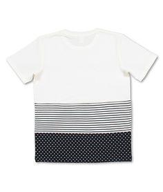 dot border short sleeve ++ cut & sew